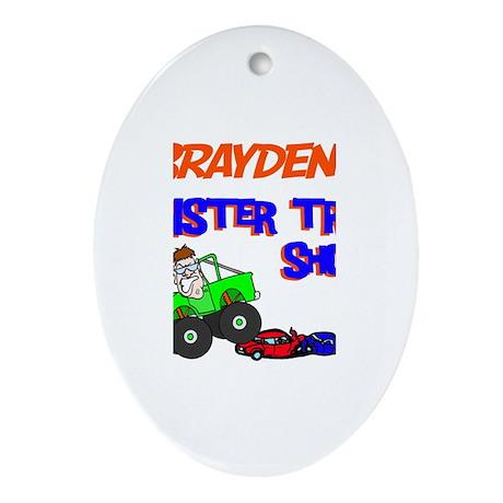 Brayden's Monster Truck Oval Ornament