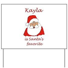 Kayla Christmas Yard Sign