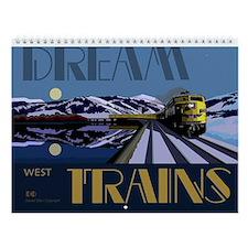 Dream Trains West Wall Calendar