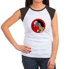 Saxophone Santa Women's Cap Sleeve T-Shirt