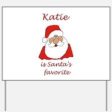 Katie Christmas Yard Sign