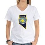 Nevada Highway Patrol Women's V-Neck T-Shirt