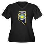 Nevada Highway Patrol Women's Plus Size V-Neck Dar