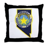 Nevada Highway Patrol Throw Pillow