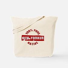 NEW YORK SHIRT 100% NEW YORK Tote Bag