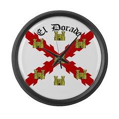 Shire of El Dorado Gear Large Wall Clock