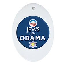 Jews for Obama Oval Ornament