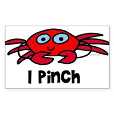 I pinch - crab Rectangle Decal