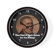 Funny Obama makes history Wall Clock