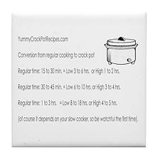 Yummy Crock Pot Recipes Tile Coaster