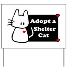 Adopt a Shelter Cat Yard Sign