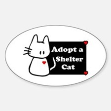 Adopt a Shelter Cat Oval Decal