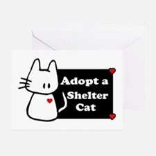 Adopt a Shelter Cat Greeting Card