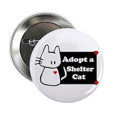 "Adopt a Shelter Cat 2.25"" Button (10 pack)"