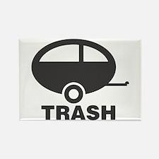 Trailer Trash Rectangle Magnet