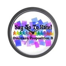Say No To Hate Wall Clock