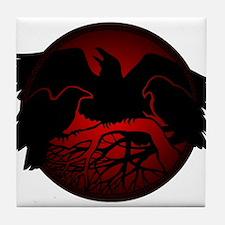 Raven Art Native Spirit Animal Tile Coaster