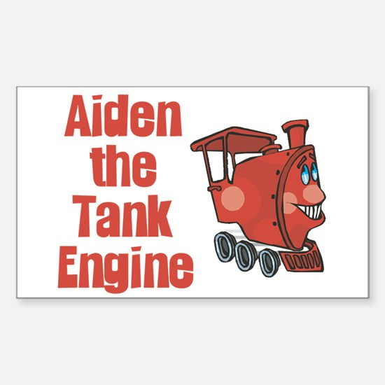Aiden the Tank Engine Rectangle Decal