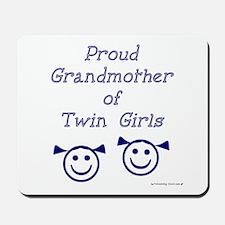 Proud Grandmother of Twin Girls - smiley Mousepad
