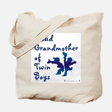 Proud Grandmother of Twin Boys Tote Bag