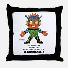 Zoomer for America Throw Pillow