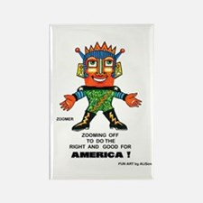 Zoomer for America Rectangle Magnet