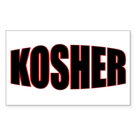 """KOSHER"" Rectangle Sticker"