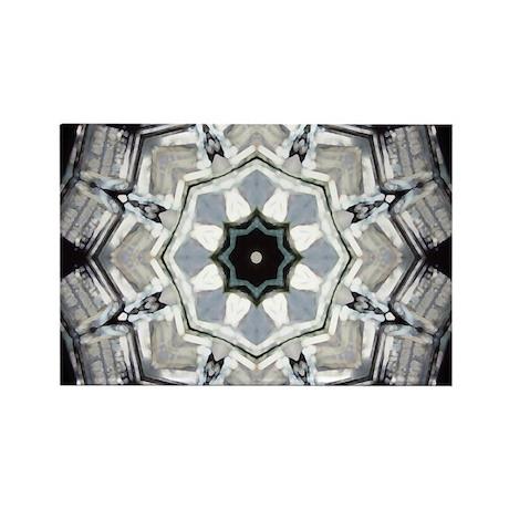 Black & White Mandala Rectangle Magnet (100 pack)