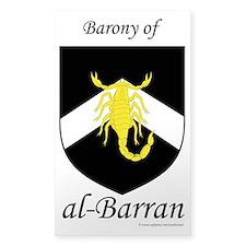 al-Barran populace Rectangle Decal
