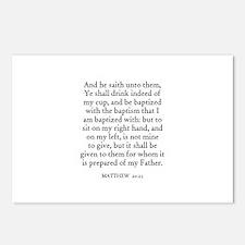 MATTHEW  20:23 Postcards (Package of 8)
