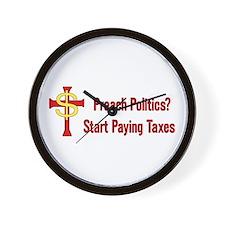 Tax Political Churches Wall Clock