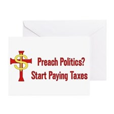 Tax Political Churches Greeting Cards (Pk of 20)