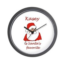 Kasey Christmas Wall Clock