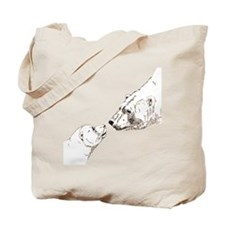 Polar Bear & Cub Art Tote Bag