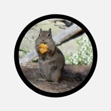 "Chipmunk Eating a Cheez-it 3.5"" Button"