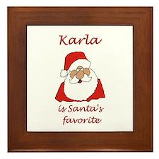 Karla Christmas Framed Tile