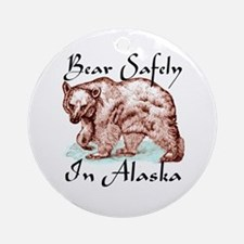 Bear safely in Alaska Keepsake (Round)