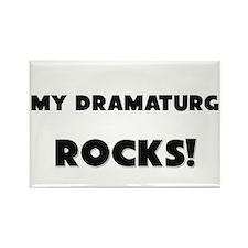 MY Dramaturg ROCKS! Rectangle Magnet