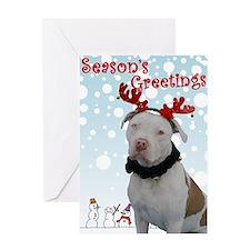 Pit bull Holiday Greeting Card