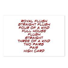 Poker Hand Rankings Postcards (Package of 8)