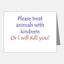 Treat Animals With Kindness Note Cards (Pk of 20)