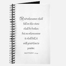 MATTHEW 21:44 Journal