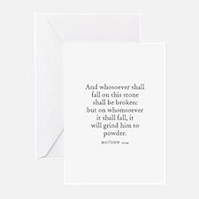 MATTHEW  21:44 Greeting Cards (Pk of 10)