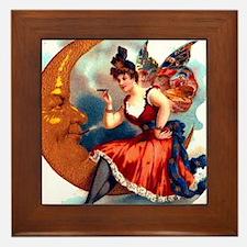 Butterfly Lady on Moon Framed Tile