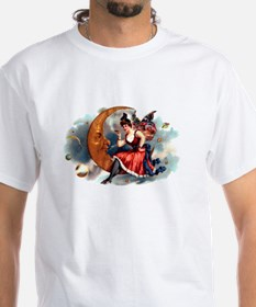 Butterfly Lady on Moon Shirt