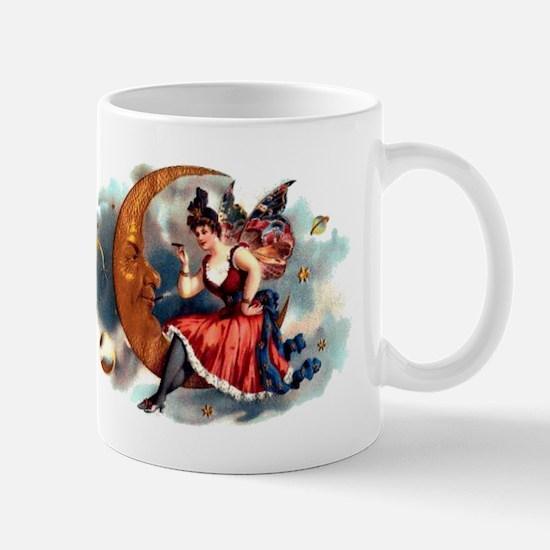 Butterfly Lady on Moon Mug