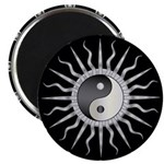 Black Starburst Yin Yang Magnet