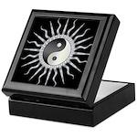 Black Starburst Yin Yang Keepsake Box