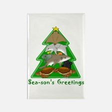 Sea-son's Greetings Rectangle Magnet
