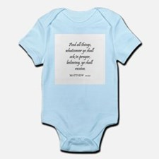 MATTHEW  21:22 Infant Creeper